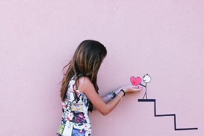 Foto femenina amor corazon