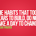 Susan Powter on habbits