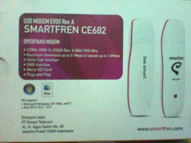 modem smartfren EVDO CE682 agar tetap stabil dan tidak panas