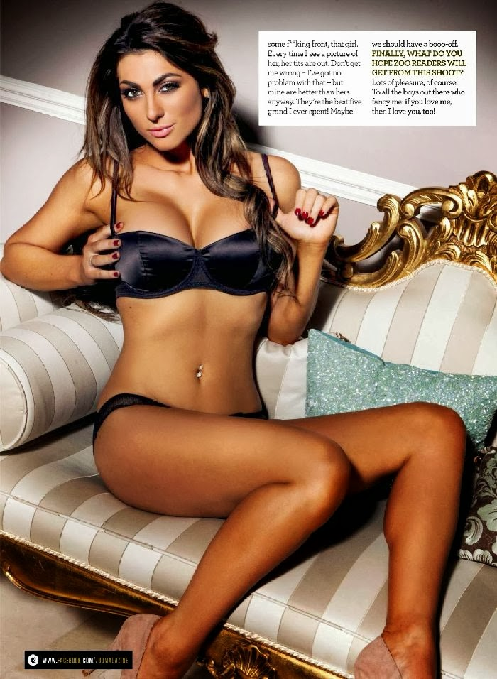 Luisa Zissman in Bikini for ZOO UK - February 2014 Issue