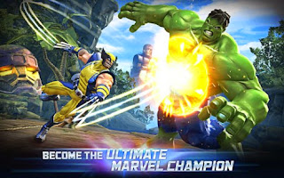 Screenshots of the Marvel Contest of Champions for Android tablet, phone.
