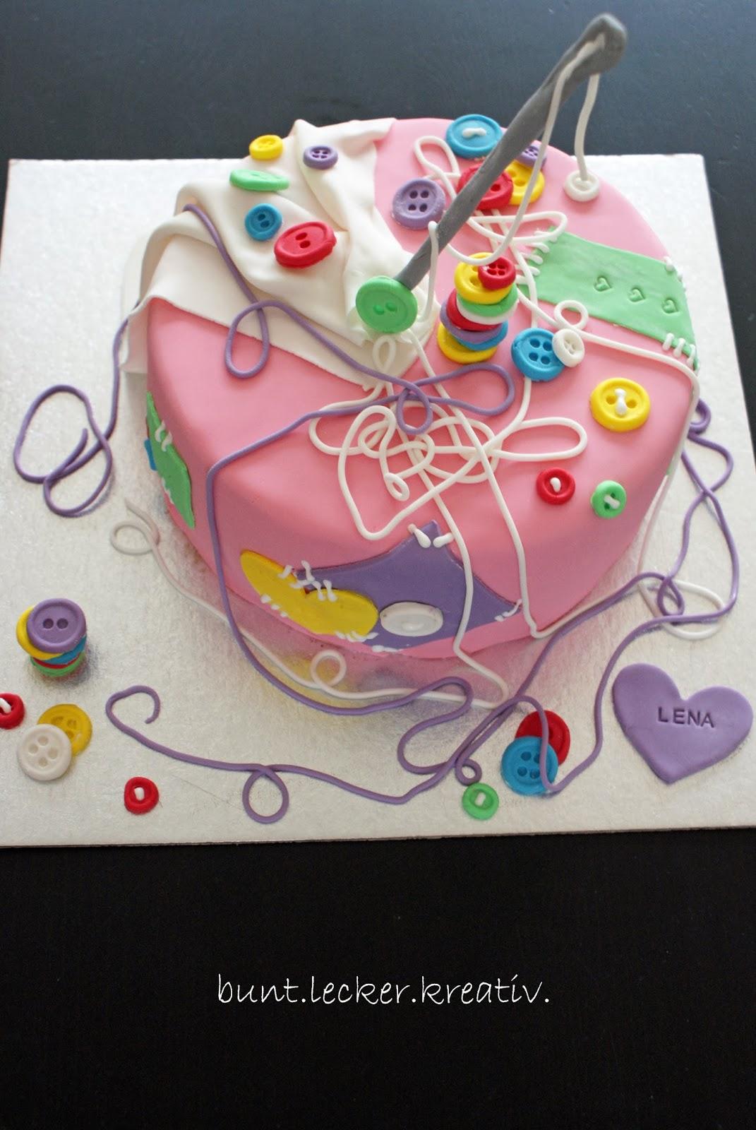 Nahen Torte Geburtstag Bunt Lecker Kreativ
