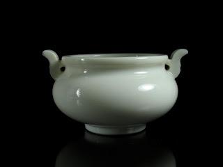 Chinese white porcelain incense burner