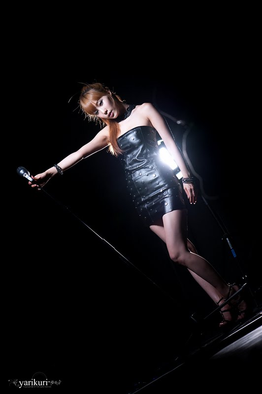 Im Min Young  Leather Mini Dress