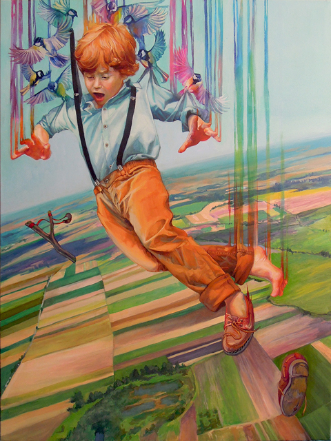 boy and birds Natalia Rak art work and paintings