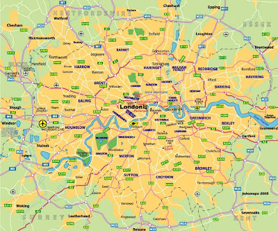 The Map of London City