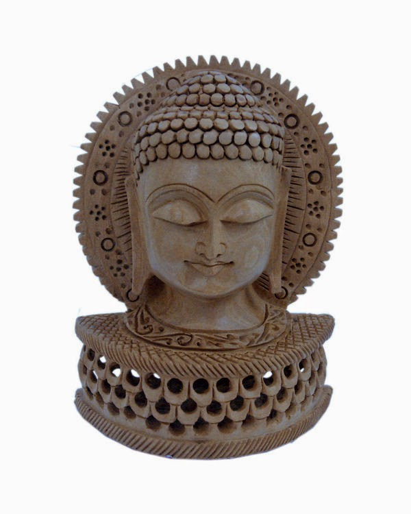 Buy Religious Buddha Statue Carved Wooden Gift at Rs.599 : Buy To Earn