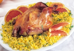 طريقة عمل الدجاج مع صلصة البرتقال
