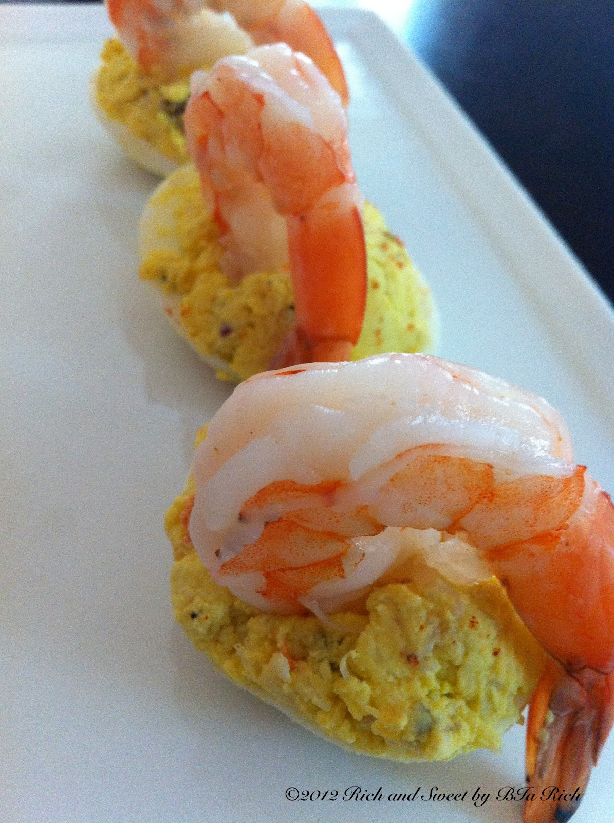 Rich and Sweet by Bia Rich: Shrimp and Crab Deviled Eggs