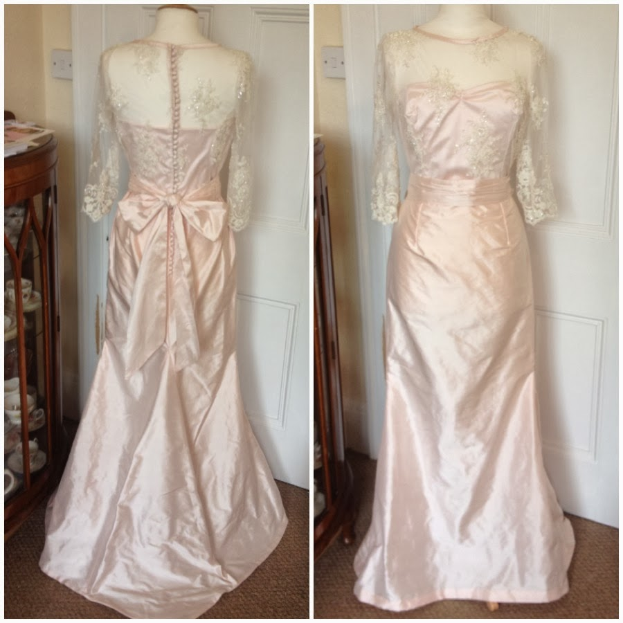 Booboo kitty couture fiona 39 s blush pink silk wedding dress for Blushing pink wedding dress