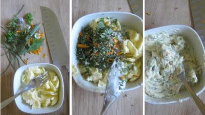 Zubereitung Kräuter- und Blütenbutter