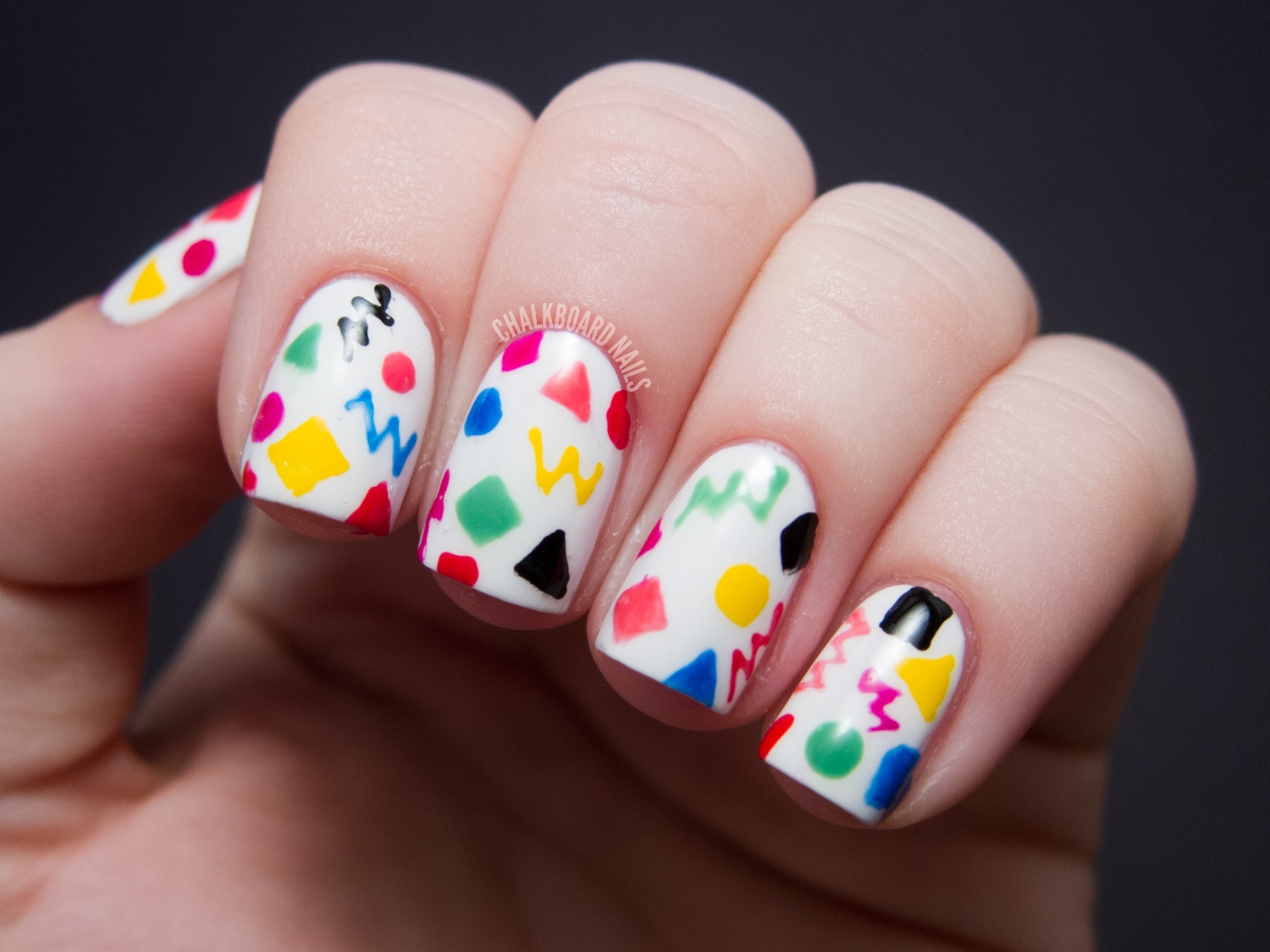 Kindergarten Doodles | Chalkboard Nails | Nail Art Blog