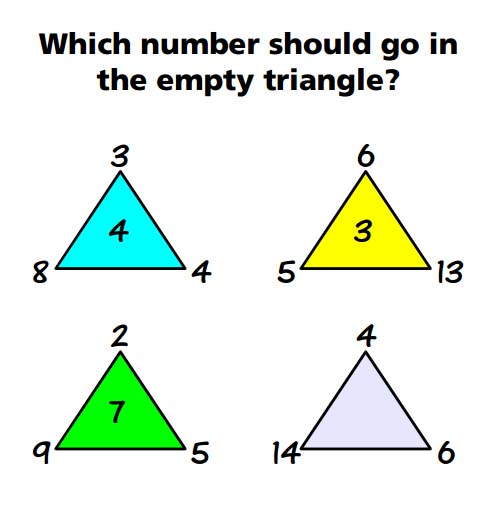 how to solve number triangles