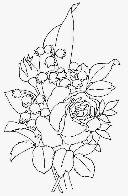Bonjour les enfants le blog coloriage muguet 1er mai - Muguet dessin ...