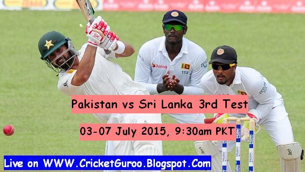 Pakistan vs Sri Lanka 3rd Test Live Streaming