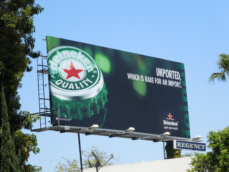Heineken imported beer billboard