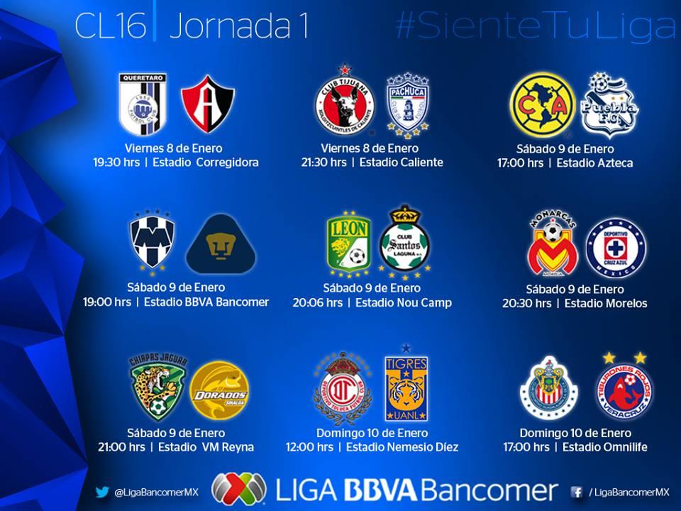 Resultados Liga Mx 2016 | Calendar Template 2016