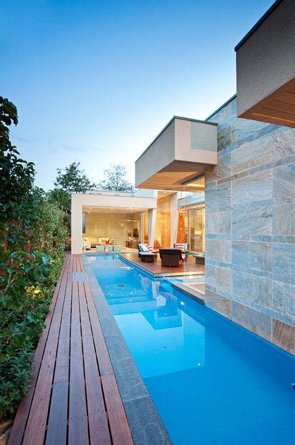 rumah minimalis modern dengan kolam renang kumpulan