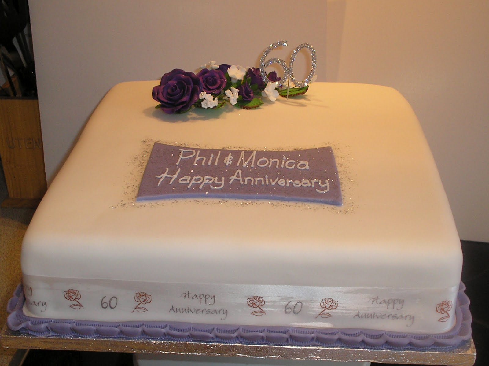 Nicky s Cakes Diamond Wedding Anniversary Cake