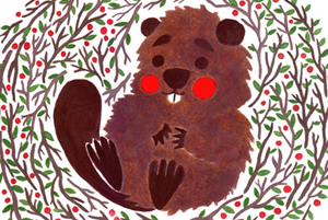 Baby Beaver Illustration by Haidi Shabrina