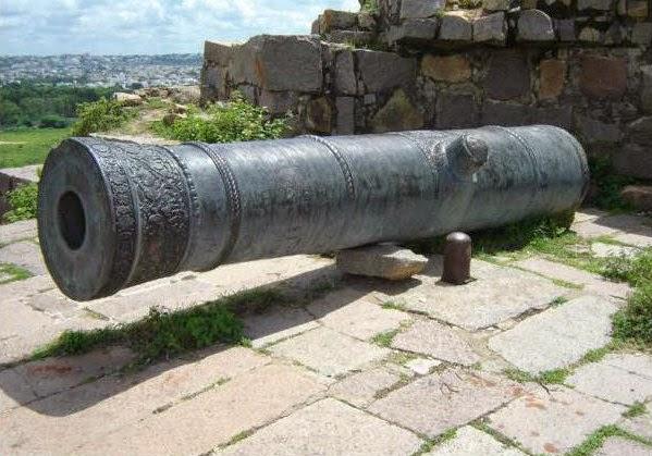 Magnificient Fateh Rahben Gun Cannon on top of Adrah Sidiya