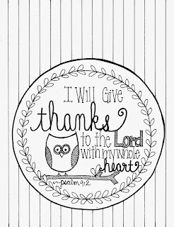 Free Bible Thanksgiving Coloring Pages