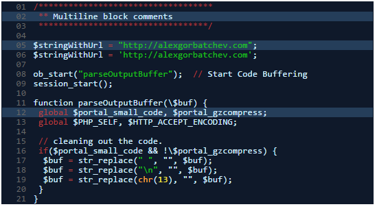 syntax highlighter Midnight theme shortcode
