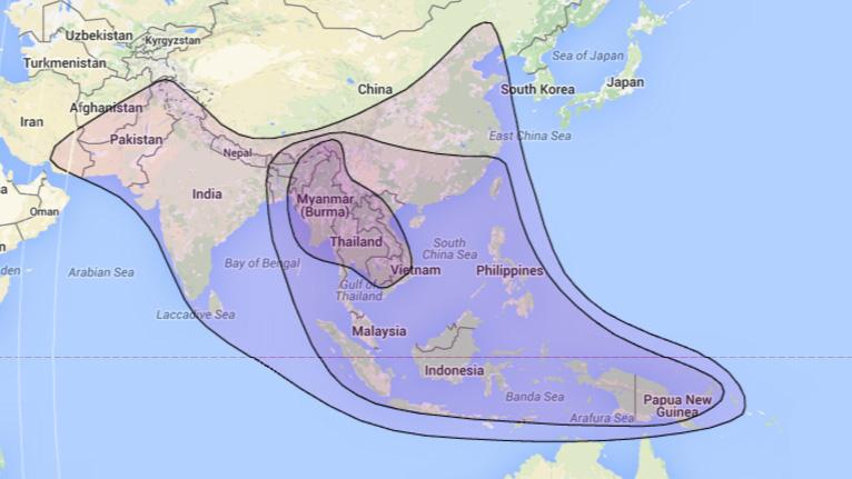 beam satelit c band laosat 1 di indonesia