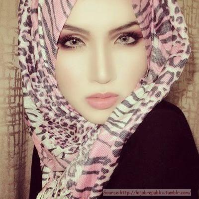 Hijab style maquillage d'été