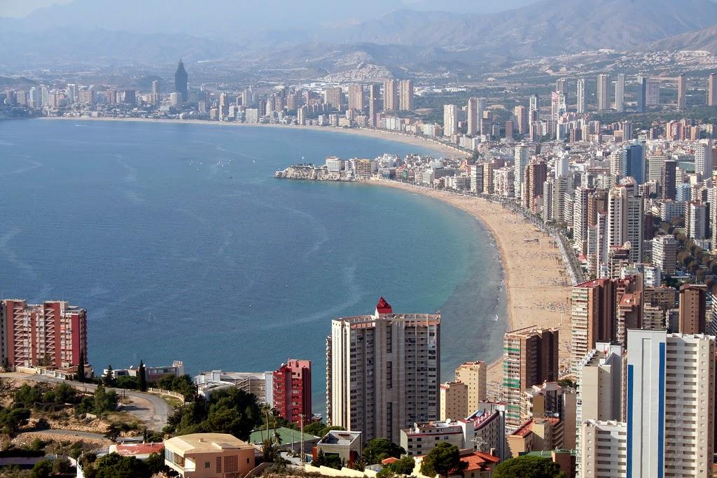 Panorámica de Benidorm, una de las ciudades más turísticas de España