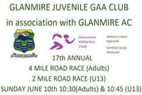 Glanmire GAA 4 mile race...Sun 10th June 2018