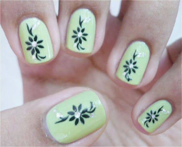 nice nail art design short nails