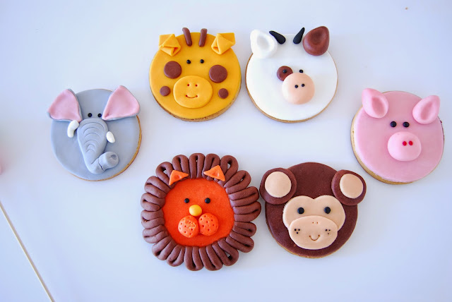 galletas de animales con fondat. Cumple de animales