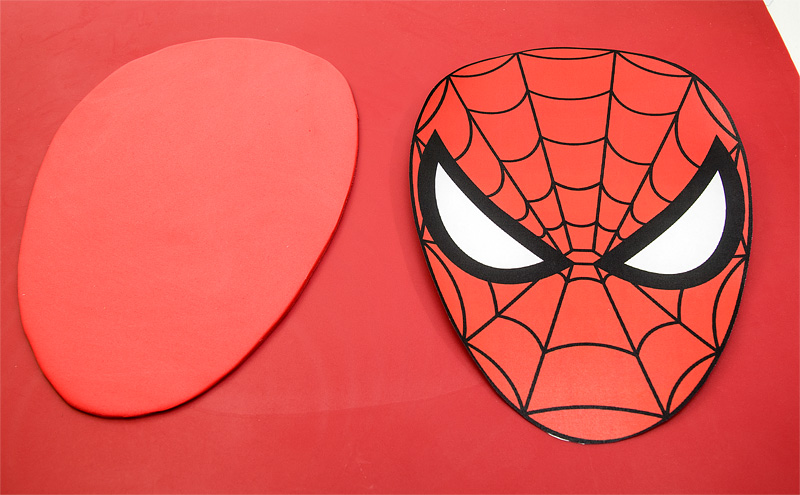 Spiderman fondant motive - head
