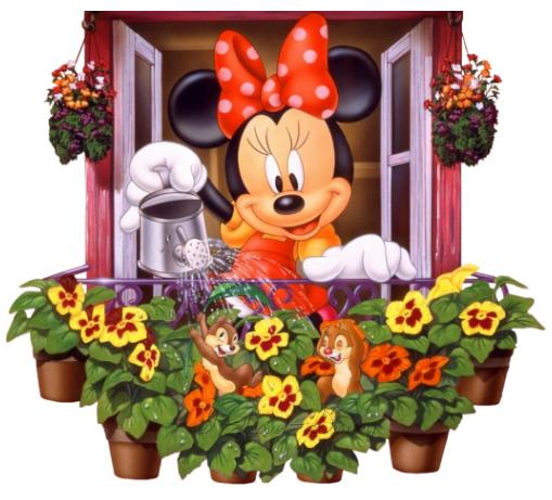 Minnie Mouse no Jardim