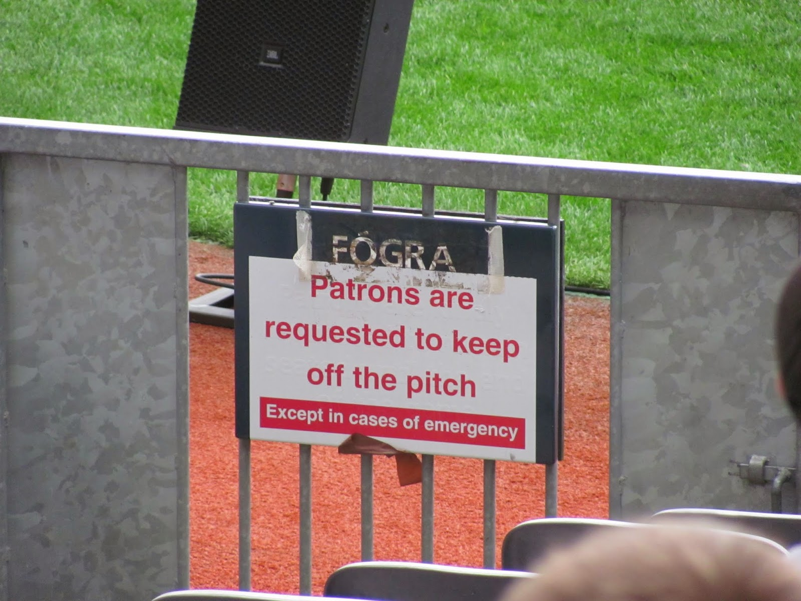 A Polite Request in English at Croke Park Classic 2014