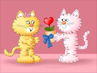 Intercambiando regalos el día del amor y la amistad
