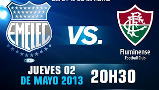 ver partido emelec vs fluminense copa libertadores 2013