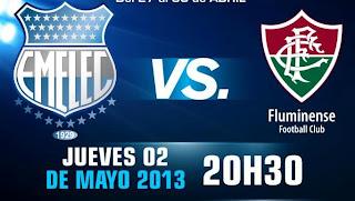 ver partido emelec vs fluminense copa libertadores 2013