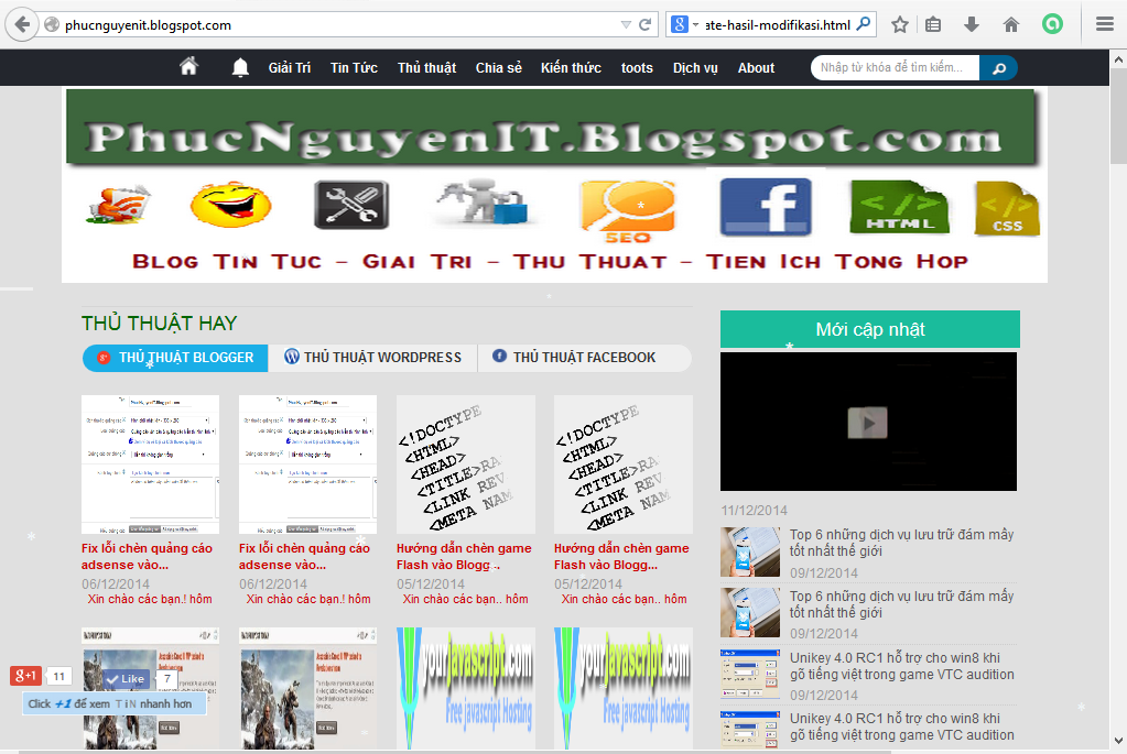 Share template blogger tin tức PhucNguyenIT.Blogspot.com