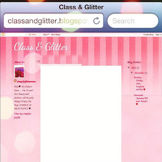 Happy 1st Blogiversary Class & Glitter