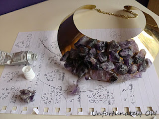 fashion DIY amethyst jewellery