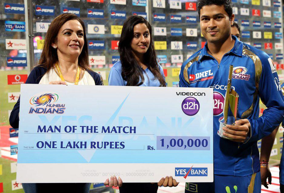 Aditya-Tare-Man-of-the-Match-MI-vs-RR-IPL-2013