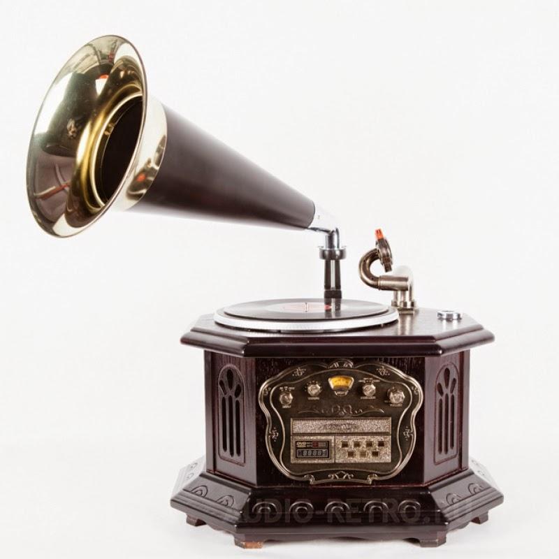 Музыкальный центр старинный граммофон Camry CR2034A с современным аудио-функционалом