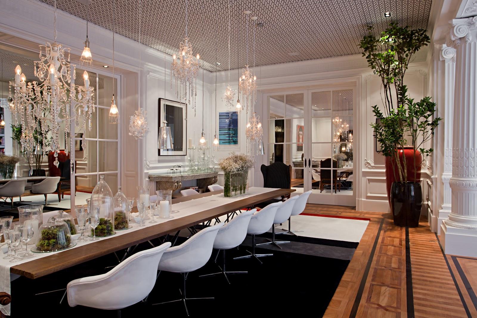 Inspirações para sala de jantar de luxo Realizando um Sonho  #965935 1600 1067