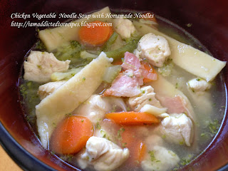 Chicken Vegetable Soup with Homemade Noodles | Addicted to Recipes