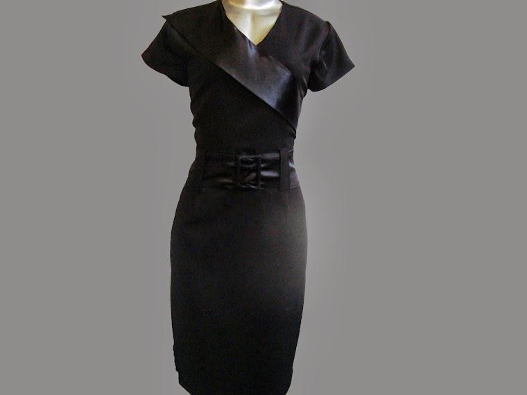 vestido tubinho de prada c cetim