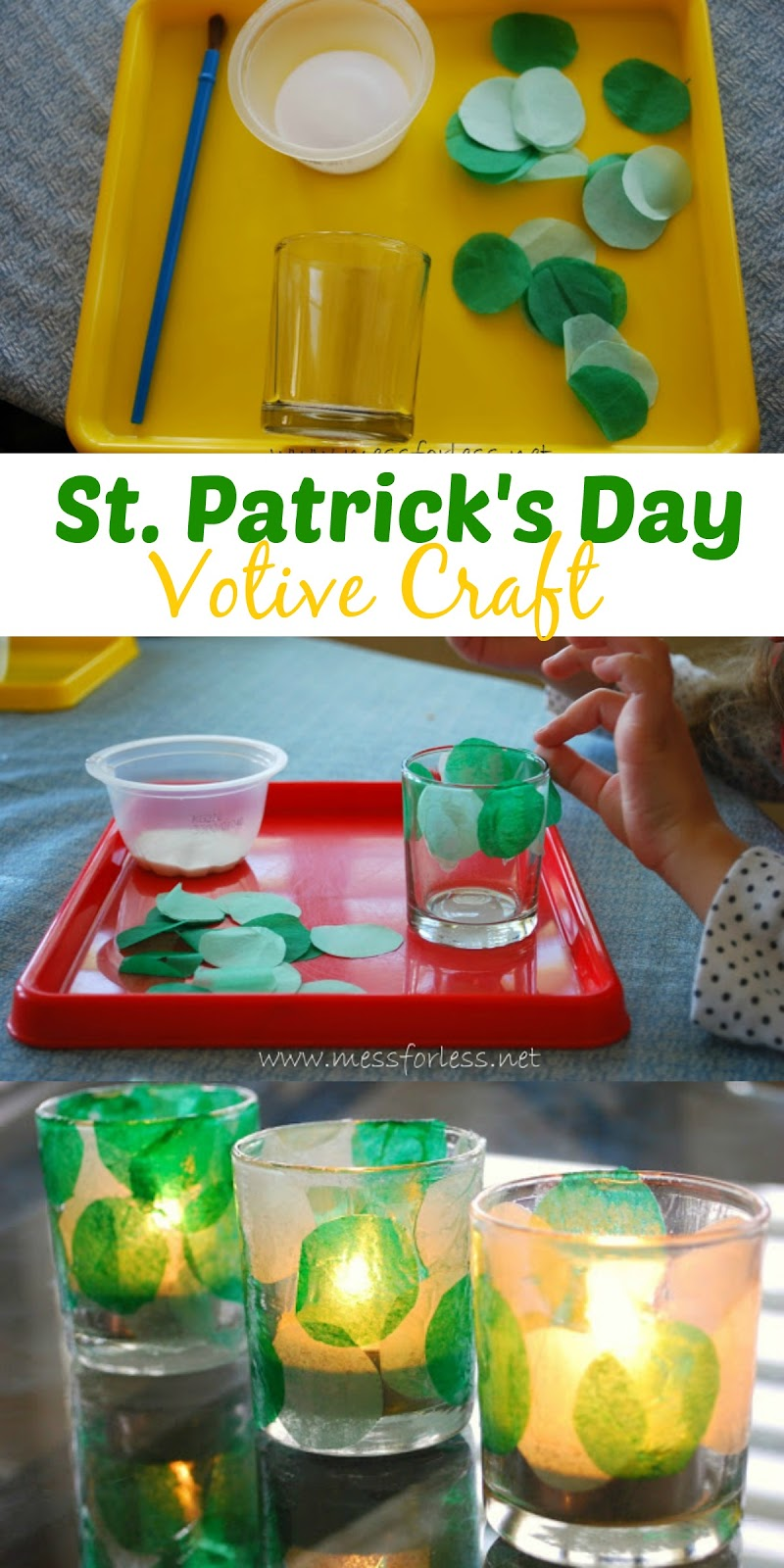 St. Patrick's Day Craft for Kids - Make a Votive.