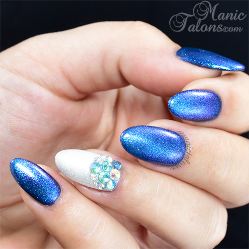 Scullpted Gel Nails with Crystal Accents