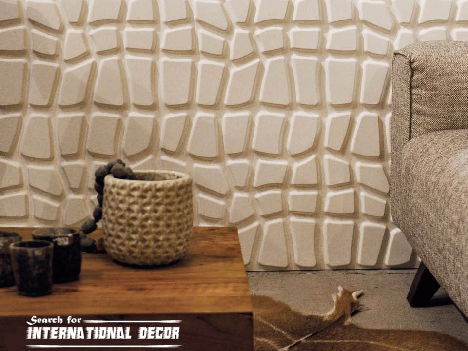 Decorative Interior Plastering : Decorative wall panels in the interior latest trends
